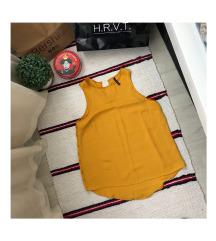 STRADIVARIUS mustársárga trikó