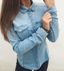 Stradivarius világos kék denim ing