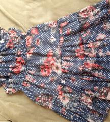 Amisu pöttyös fodros ruha