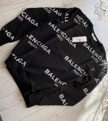 Új címkés Balenciaga fekete pulóver unisex