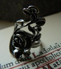 Vintage rózsás gyűrű