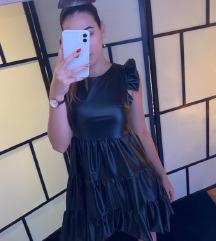 ÚJ fekete bőr ruha  XS-M ig