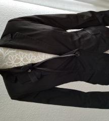 Fekete elegáns szatén bélelt blézer