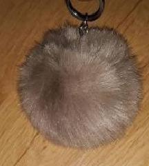 szőr kulcstartó/táskadísz