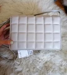 ÚJ címkés H&M bézs texturált táska