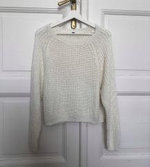 Fehér kötött pulóver (M)