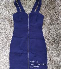 Kék cipzáros ruha