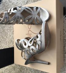 Alisha ezüst gyönyörű sexy magassarkú szandál