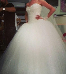 Vadonat uj hofeher uszalyos menyasszonyi ruha