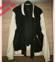 Fekete fehér bomber dzseki