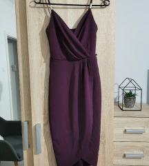 Bordó/Sötét lila alkalmi ruha