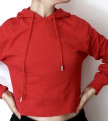 piros kapucnis pulcsi