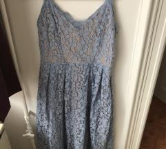 Kék, alkalmi csipke ruha