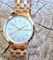 DKNY rosegold női óra új vékony