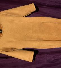 Velúr mustársárga ruha