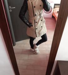 Bőr újjú hosszú kabát xs-es/s-es