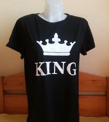 MBAUREE fekete KING feliratú póló, S/M-es