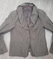 Khaki csinos zakó, kabátka, blézer, L