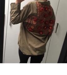 Zara khaki dzseki