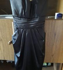 Fekete selyem alkalmi ruha