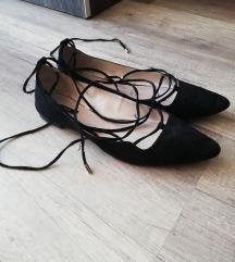 Mango fekete megkötős balerinacipő
