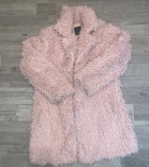 Rózsaszín műszőrme kabát