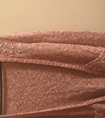 rózsaszín szegecses kardigán