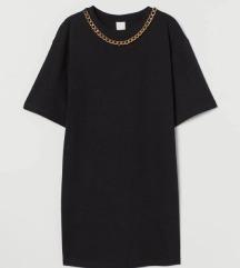 H&M fekete pólóruha