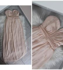 TFNC London gyönyörű nude maxi ruha