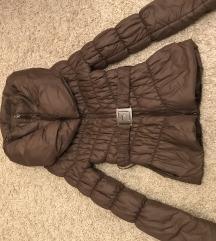 Barna steppelt rövid kabát, dzseki