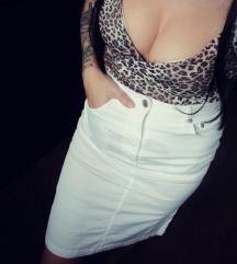 Magas derekú fehér szoknya 38