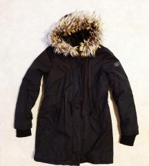 Fekete meleg téli kabát S