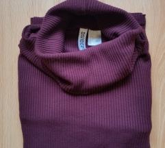 H&M bordás garbó felső top bordó pulcsi pulóver