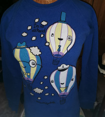 M-es kék hőlégballonos pulóver
