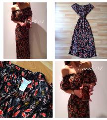 H&M mintás maxi ruha