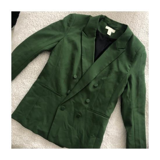 H&M oversized zöld blézer