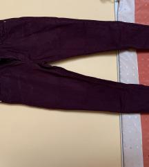Mango 36-os burgundy-lila színű farmer