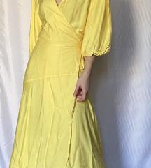 Sárga átlapolt ruha