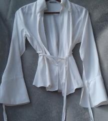 Fehér megkötős selyem blúz Méret: L