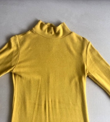 Mustár okker sárga félgarbós felső