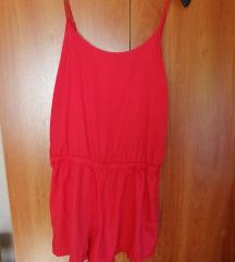 Rövidnadrágos piros ruha / Romper