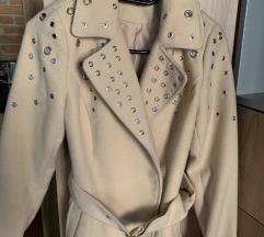 Mohito bézs szegecses kabát