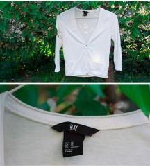 H&M fehér kardigán