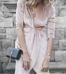 Új, Zara pink velvet dress