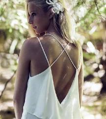 ZARA esküvői koszorúslány tengerparti maxi ruha XS