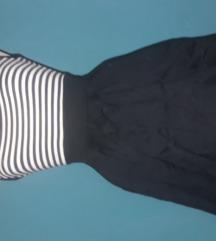 csíkos ruha megkötős