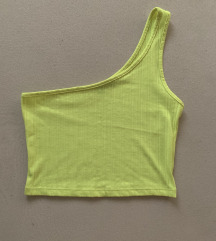 Tally Weijl neon citrom sárga félvállas crop top