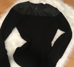 Zara bőrbetétes bluz