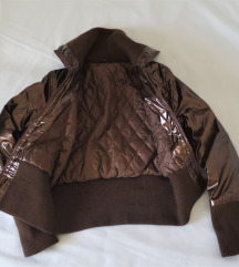 Fényes barna BOMBER dzseki 🌰