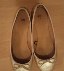 H&M Balerinacipő arany 38
